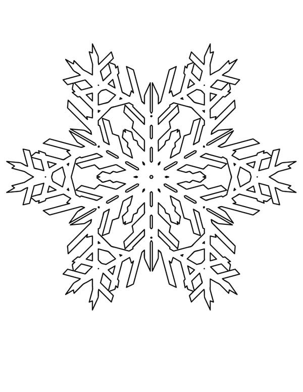 Lovely Snowflakes Pattern Coloring Page - NetArt