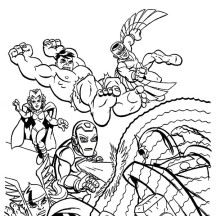 Marvel Villains Colouring Page'S 62