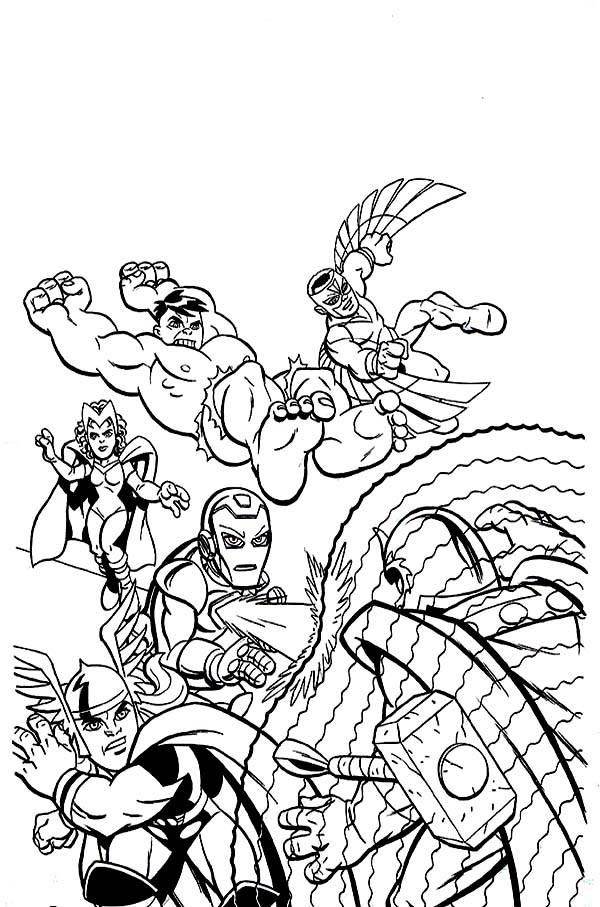 Marvel Super Hero Squad Attacking Magneto Coloring Page NetArt