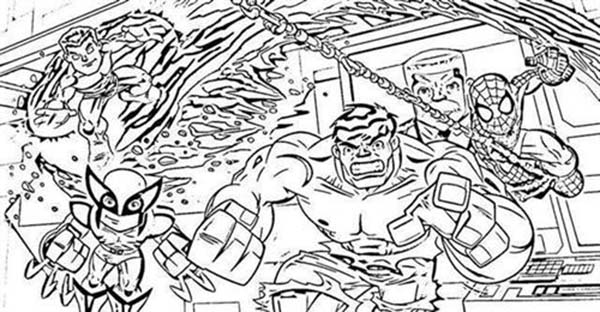 Marvelous Super Hero Squad Coloring Page NetArt