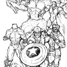 Marvel's Amazing Super Hero Squad Coloring Page