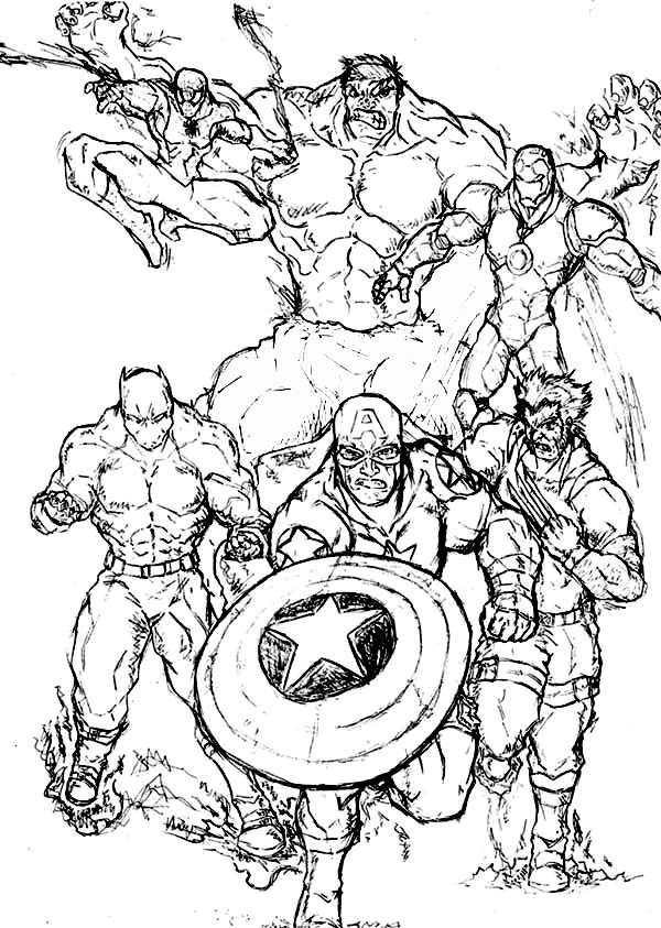 Marvels Amazing Super Hero Squad Coloring Page NetArt