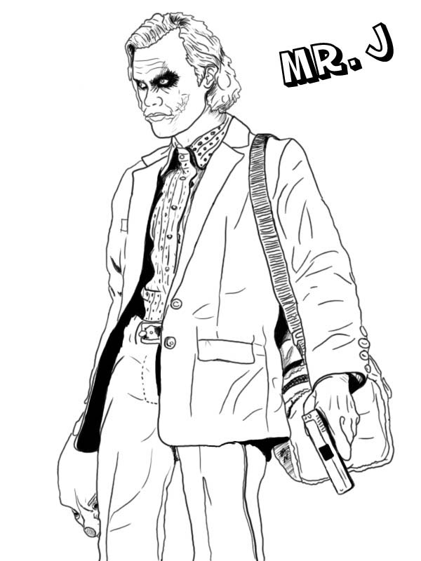 Mr J is Joker Coloring Page NetArt