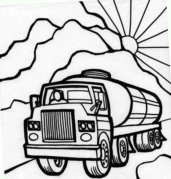 oil tanker coloring pages - photo #15