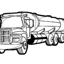 Oil Containing Semi Truck Coloring Page