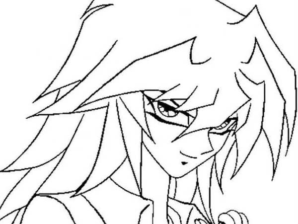 Picture of Mai in Yu Gi Oh Coloring Page