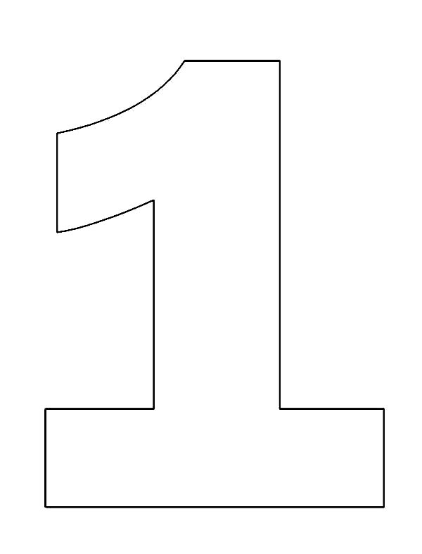 picture of number one coloring page netart