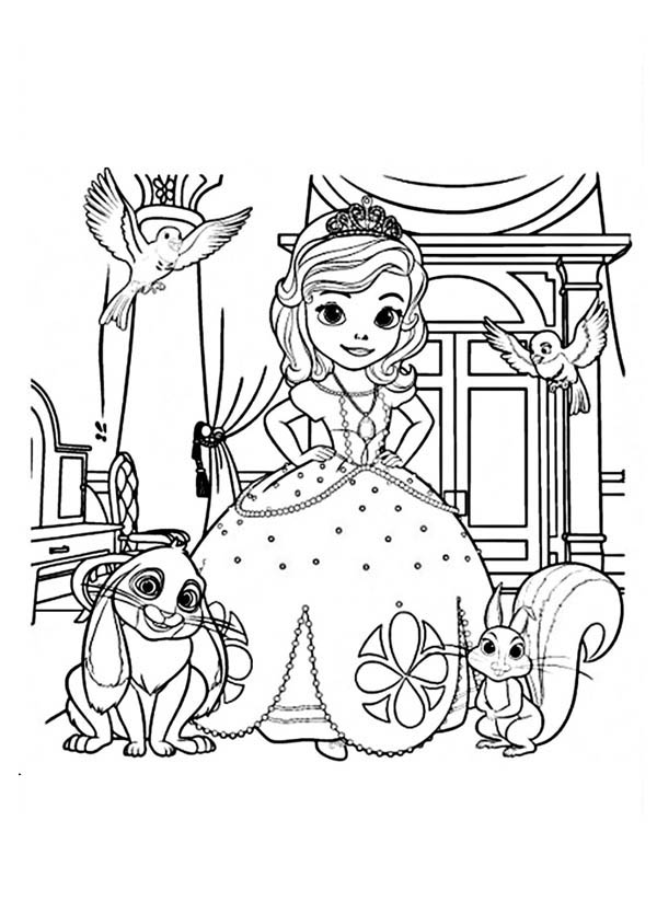 sofia the first coloring pages family | Sofia The First Characters Amber Coloring Pages Coloring Pages