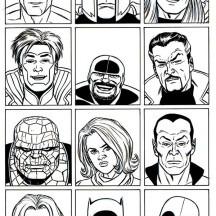 Picture of Super Hero Squad Coloring Page