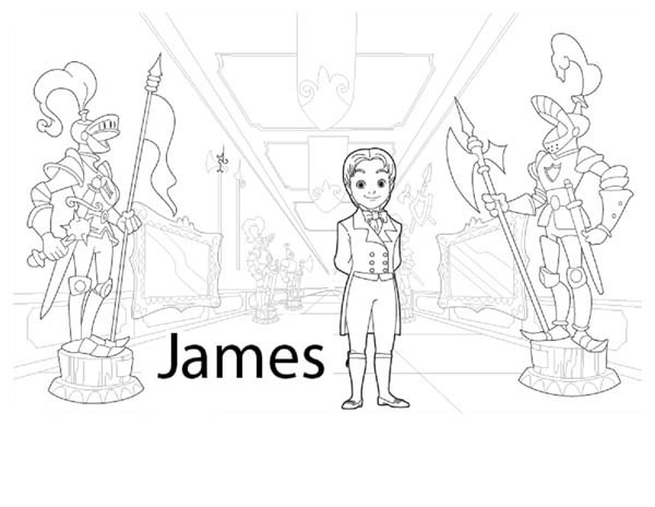 Prince James From Sofia The First Coloring Page