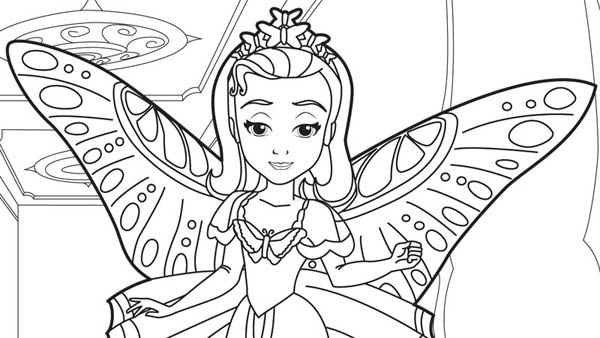 Princess Amber in Sofia The First Coloring Page NetArt