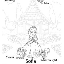 Princess Sofia and Her Friends in Sofia the First Coloring Page