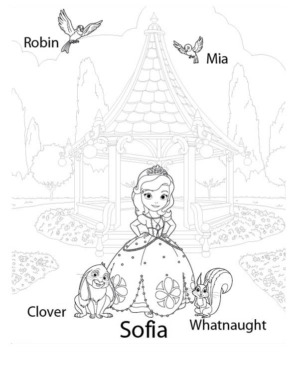 sofia the first coloring pages family | Sofia The First Sister Coloring Coloring Pages