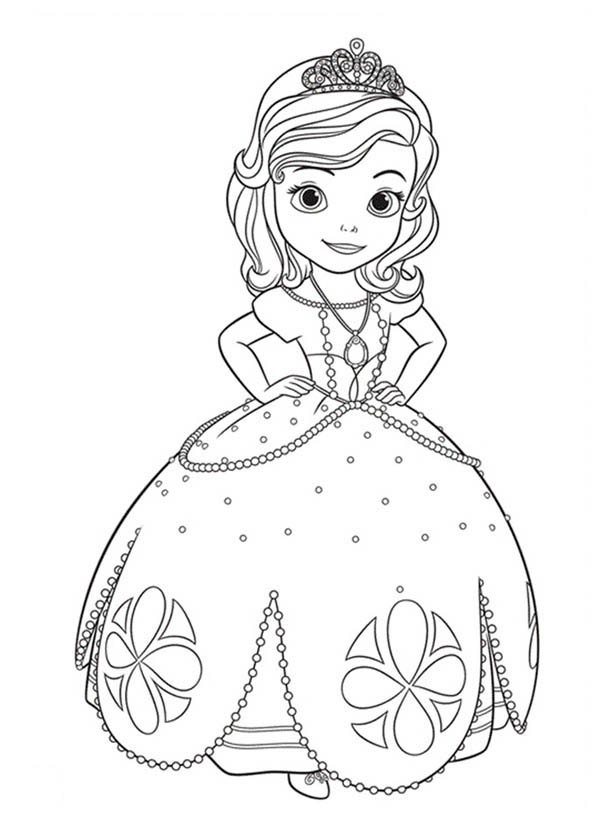 Princess Sofia The First Going To Dance Coloring Page