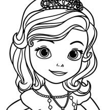 sofia face princess coloring pages - photo#6