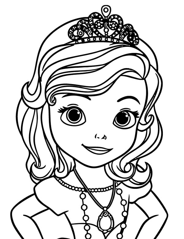 princess sofia the first picture coloring page - Princess Sofia Coloring Pages
