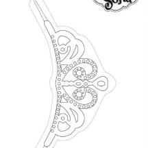 Sofia the first crown coloring page for Sofia the first crown template