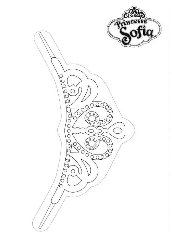 Princess sofia the first tiara coloring page netart for Princess sofia coloring pages printable