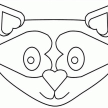 Raccoon Mask Coloring Page