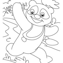 Raccoon Winning A Race Coloring Page