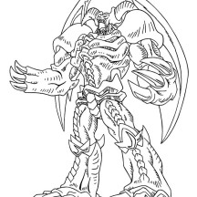Red Eyes Dragon from Yu Gi Oh Coloring Page