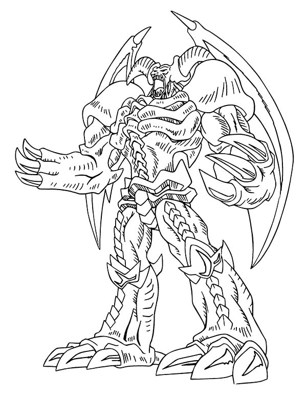 Red Eyes Dragon from Yu Gi Oh Coloring Page - NetArt