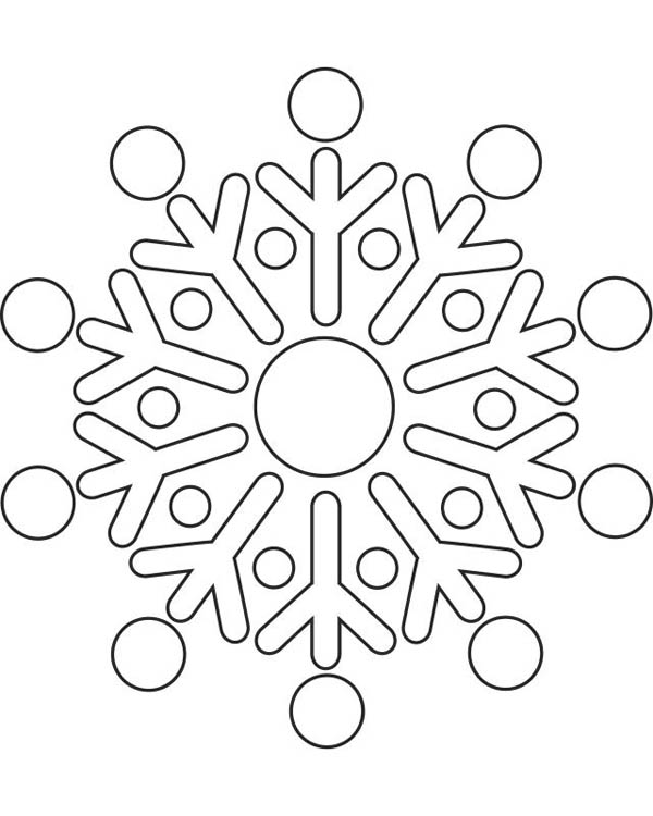 Round Snowflakes Coloring Page