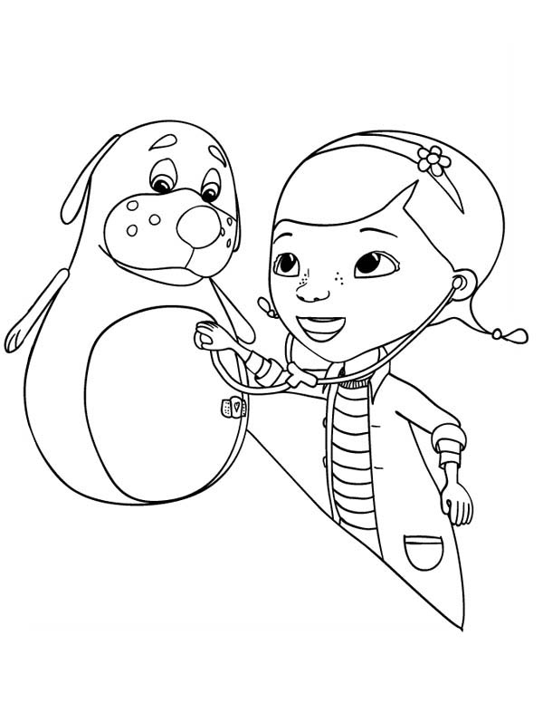 Rudy is a Little bit Sick Doc McStuffins Coloring Page  NetArt