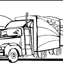 semitrailer semi truck coloring page