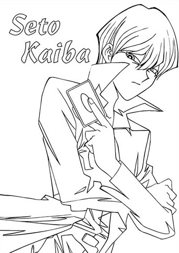 Seto Kaiba from Yu Gi Oh Coloring Page