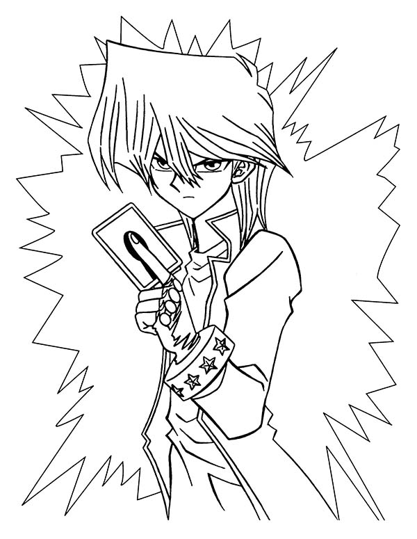 free coloring pages yugioh seto kaiba is angry in yu gi oh coloring page netart - Yugioh Coloring Pages
