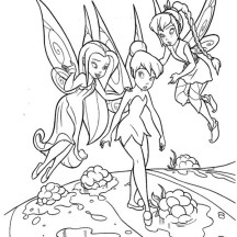 Silvermist Fawn and Tinkerbell Coloring Page