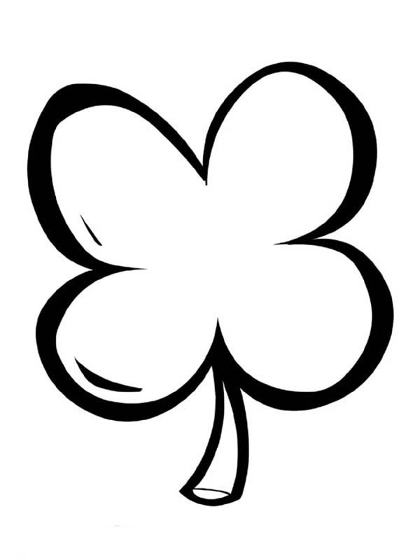 Simple Drawing Of Four Leaf Clover Coloring Page