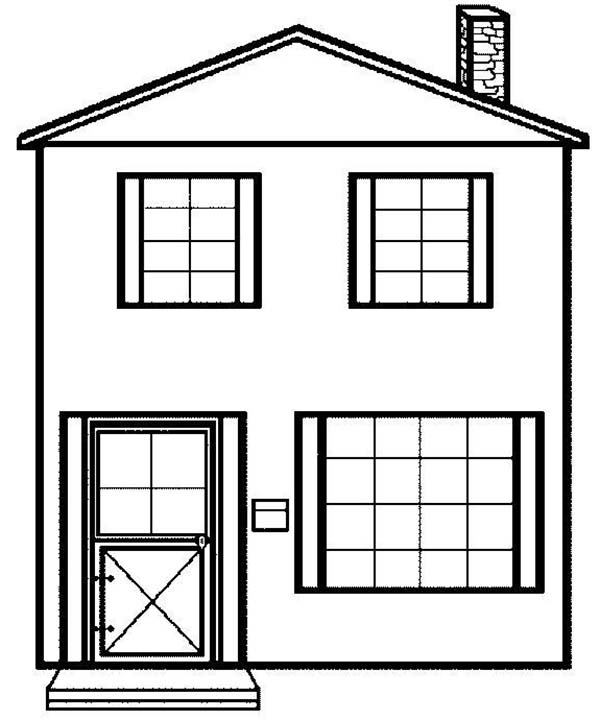 Simple House Picture in Houses Coloring Page - NetArt