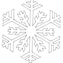 Snowflake Simple Pattern Coloring Page