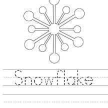 Snowflakes Clipart Coloring Page