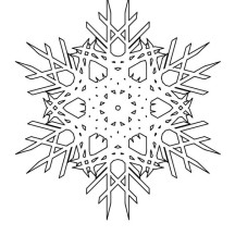 Snowflakes Cristals Coloring Page