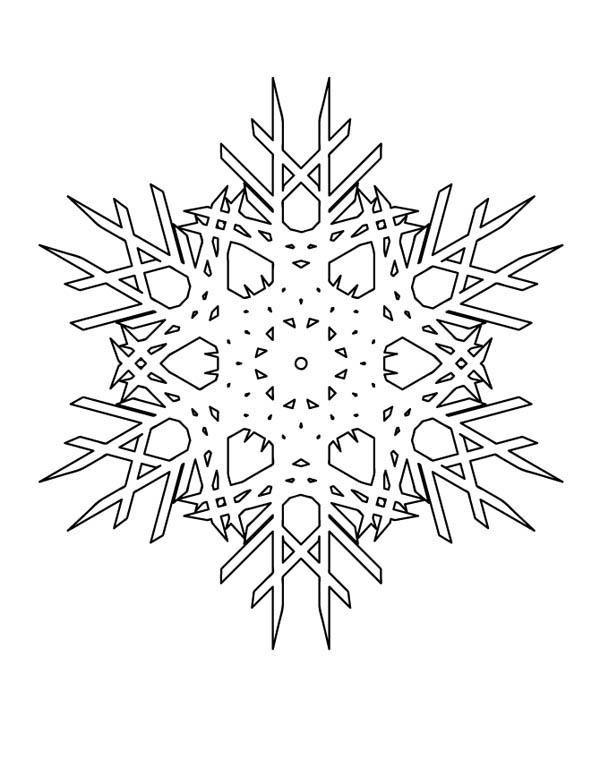 Snowflakes Cristals Coloring Page