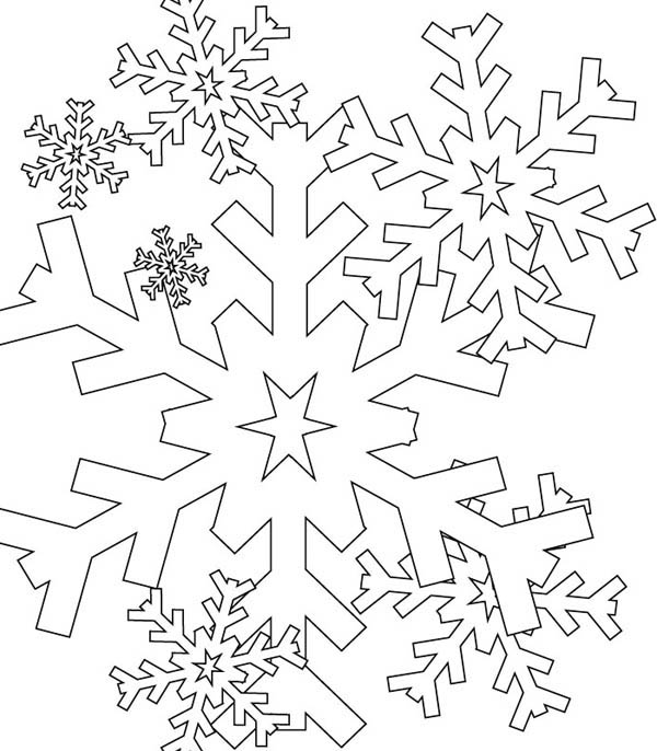Snowflakes Everywhere Coloring Page