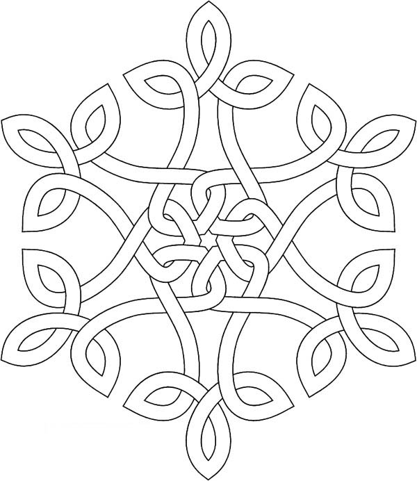 christmas snow flacks coloring pages - photo#26