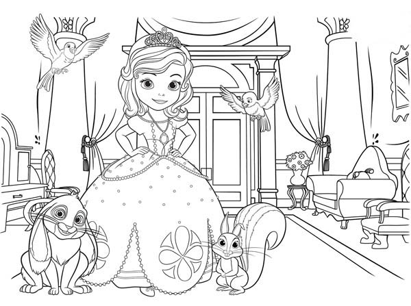sofia the first coloring pages family | Sofia The First Picture Coloring Page - NetArt
