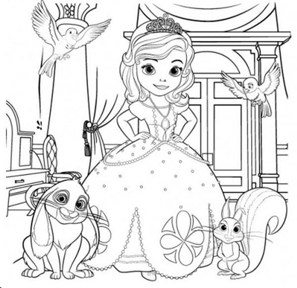 Sofia The First and Her Friends Coloring Page - NetArt
