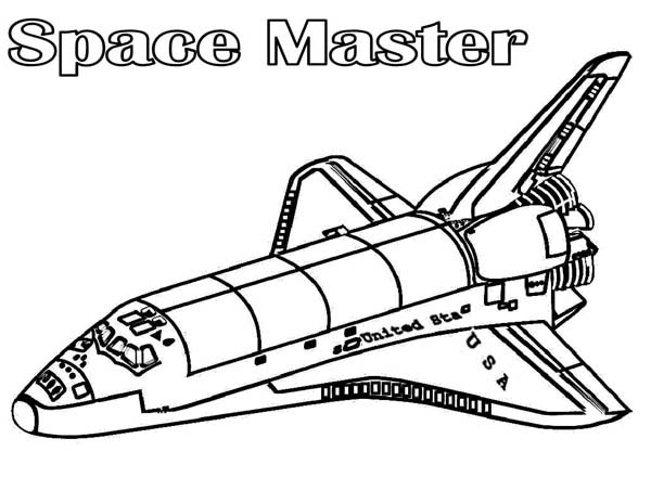 space master spaceship coloring page - Spaceship Coloring Pages Print