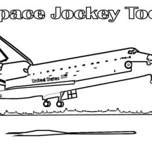 Spaceship About to Landing Coloring Page