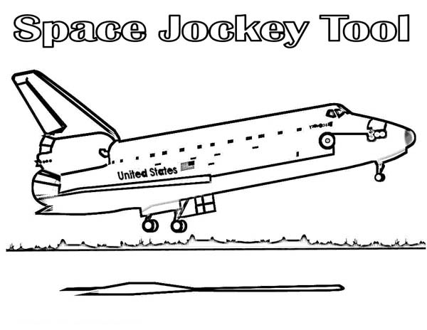 spaceship about to landing coloring page space shuttle - Nasa Space Shuttle Coloring Pages