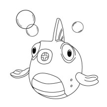 Squakers the Fish in Doc McStuffins Coloring Page