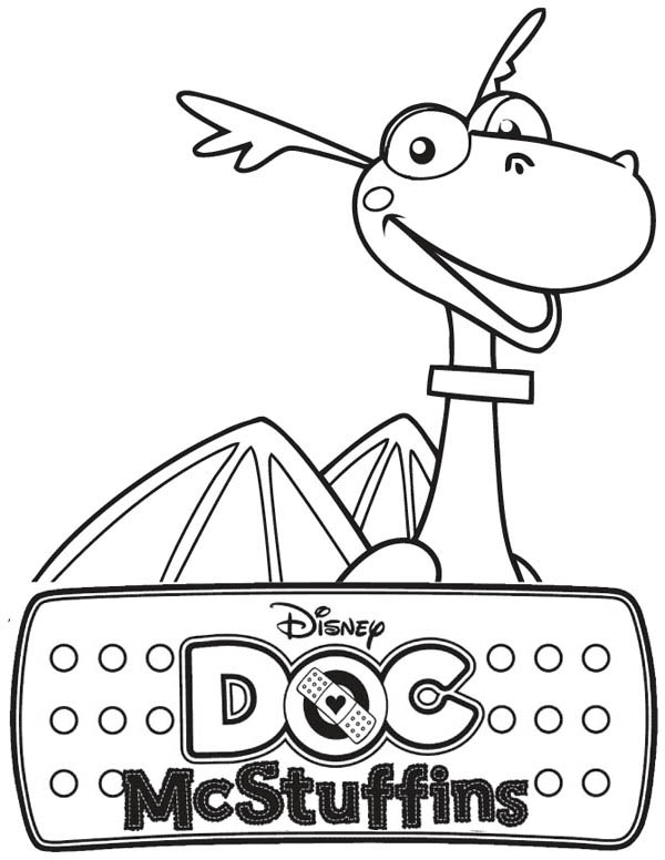 Stuffy the Dragon in Doc McStuffins Coloring Page NetArt