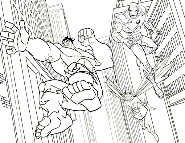 marvel hero squad coloring pages - photo#25