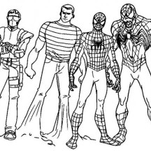 Super Hero Squad Image Coloring Page