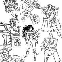Super hero squad netart for Super villains coloring pages